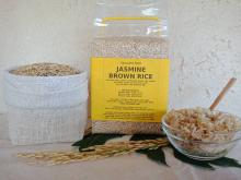 Thai Jasmine Brown Rice in a vacuum pack of 1 kilogram