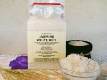 Thai Jasmine White Rice in a vacuum pack of 1 kilogram